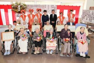 令和元年の敬老会を開催いたしました。ご家族にも参加いただき、温かな会となりました。